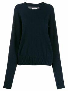 Maison Margiela cashmere cut-out jumper - Blue