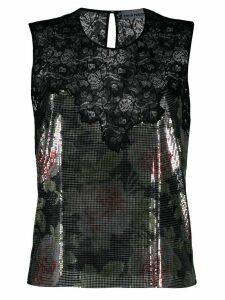 Paco Rabanne sequin detail blouse - Black