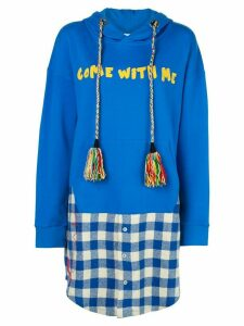 Mira Mikati oversized Come With Me hoodie - Blue