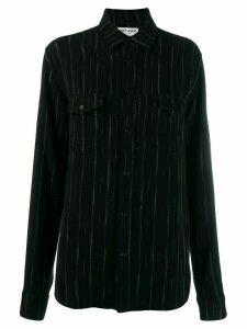Saint Laurent pinstripes shirt - Black