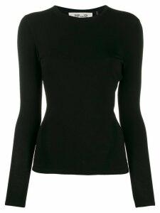 DVF Diane von Furstenberg slim-fit long-sleeve T-shirt - Black