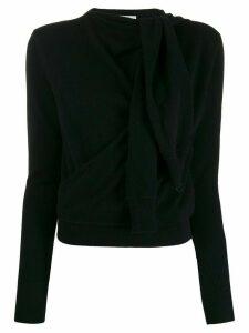 Chloé tied sleeve detail jumper - Black