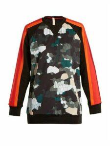 No Ka'oi - Noho Camouflage-print Cotton-blend Performance Top - Womens - Green Print