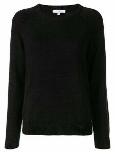 Venroy plain round neck jumper - Black