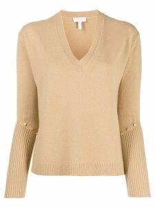 Escada Sport studded knit jumper - NEUTRALS