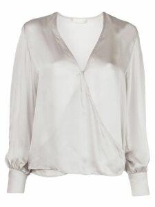 Fleur Du Mal wrap front style blouse - SILVER