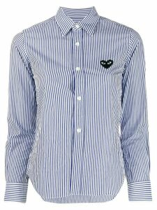 Comme Des Garçons Play long sleeve striped shirt - White