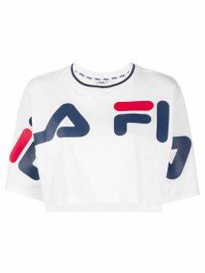 Fila logo cropped T-shirt - White