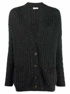 Brunello Cucinelli V-neck sequin-embellished cardigan - Grey