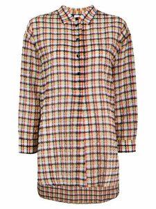 Ultràchic tartan crinkled shirt - Yellow