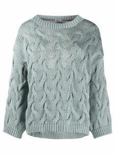Brunello Cucinelli chunky knit jumper - Blue