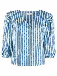 Tory Burch striped print blouse - Blue