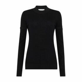 Amanda Wakeley Slim Fit Jumper Cashmere Black Multi (black Lurex)