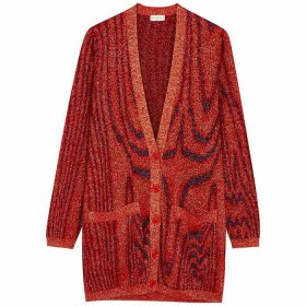 Dries Van Noten Jeep Metallic-weave Cardigan