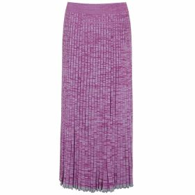 Christopher Esber Purple Pleated Stretch-knit Midi Skirt