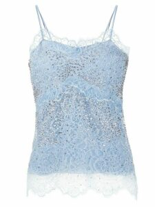 Ermanno Scervino floral lace camisole top - Blue