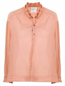 Forte Forte buttoned ruffled-neck blouse - PINK
