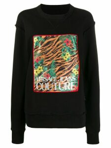 Versace Jeans Couture jungle print sweatshirt - Black