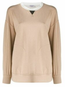 Brunello Cucinelli knitted oversized jumper - NEUTRALS