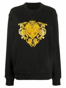 Versace Jeans Couture Baroque Jewels print sweatshirt - Black