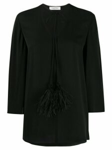 Valentino feather-embellished bell sleeves blouse - Black