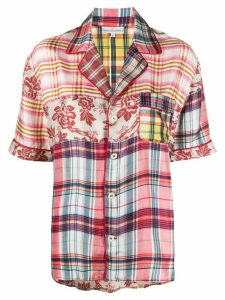 Pierre-Louis Mascia panelled print-mix shirt - PINK