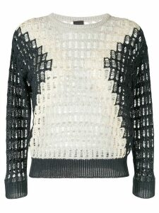 Lorena Antoniazzi open-knit two-tone jumper - Blue
