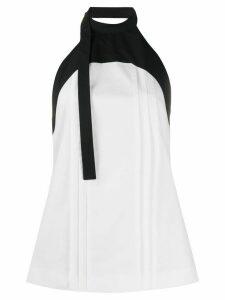 Loewe pleated halterneck blouse - White