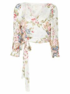 AUGUSTE Sadie Frida floral-print blouse - White