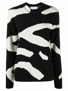 Christian Wijnants zebra stripe jumper - Black