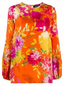 Gianluca Capannolo floral print silk blouse - PINK