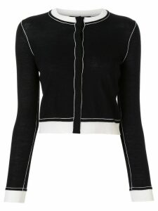 Paule Ka cropped round-neck cardigan - Black