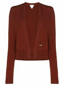 Bottega Veneta ring detail knit cardigan - Red