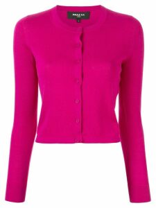 Paule Ka cropped fitted cardigan - PINK