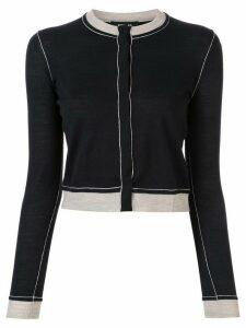 Paule Ka cropped round-neck cardigan - Black