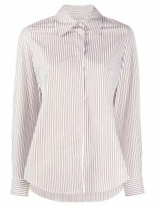 Alberto Biani striped cotton shirt - Brown
