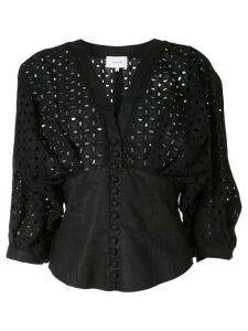 Joslin Lilah perforated blouse - Black