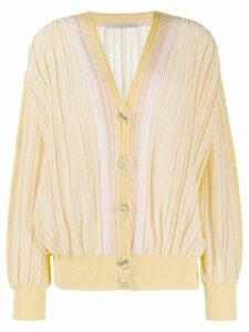 Marco De Vincenzo V-neck cable knit cardigan - Yellow