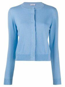 Brunello Cucinelli concealed button cashmere cardigan - Blue