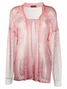 Missoni open front knit cardigan - PINK