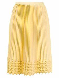 Marco De Vincenzo zig-zag hem skirt - Yellow