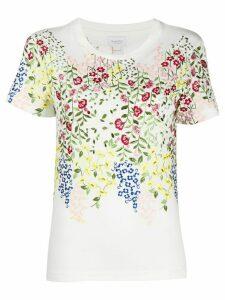 Giambattista Valli floral-embroidered T-shirt - White