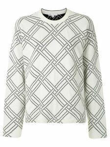 Nk Harley polka dots knit jumper - White