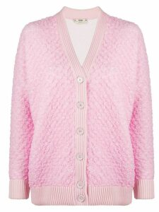 Fendi button-up knitted cardigan - PINK