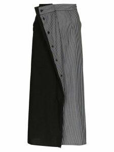 Mm6 Maison Margiela contrast panel midi skirt - Black