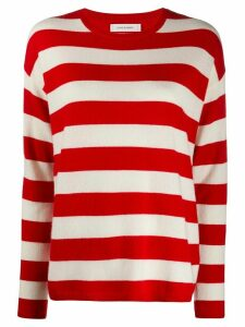 Chinti and Parker tri-colour striped jumper - Red