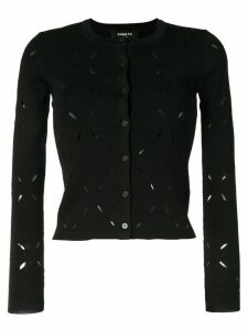 Paule Ka knitted long sleeve cardigan - Black
