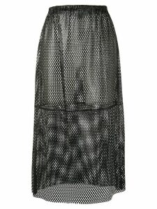 Simonetta Ravizza elasticated perforated detail skirt - Black