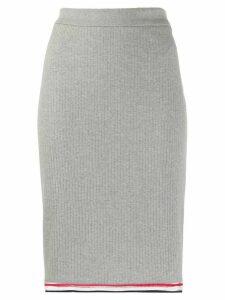 Thom Browne ribbed high-waisted skirt - Grey
