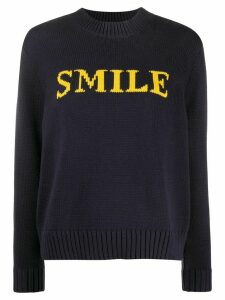 Chinti and Parker knitted slogan jumper - Blue